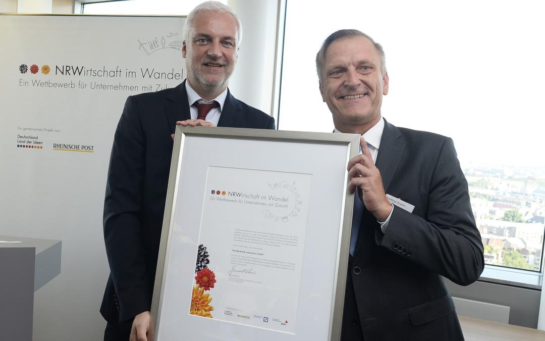 Vanderlande erhält Auszeichnung von NRW-Wirtschaftsminister