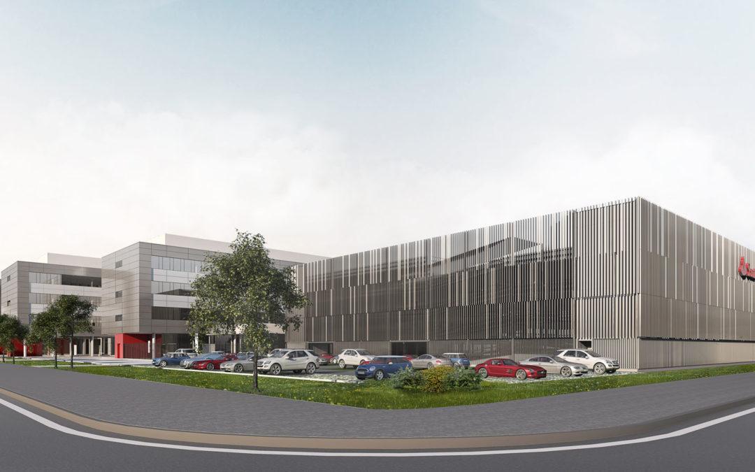 Baubeginn für Santander Parkhaus am Nordpark