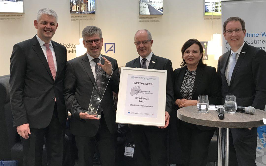 Mönchengladbach: Auszeichnung als Logistikstandort 2017