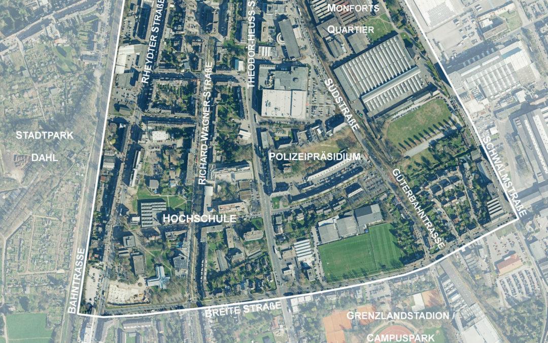 """Rahmenplan Hochschulquartier mg+: """"Öffentliche Arena"""" am 14. Februar"""