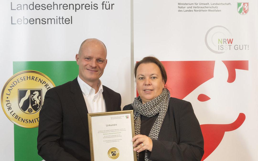 Ausgezeichnet: Refresco erhält Landesehrenpreis